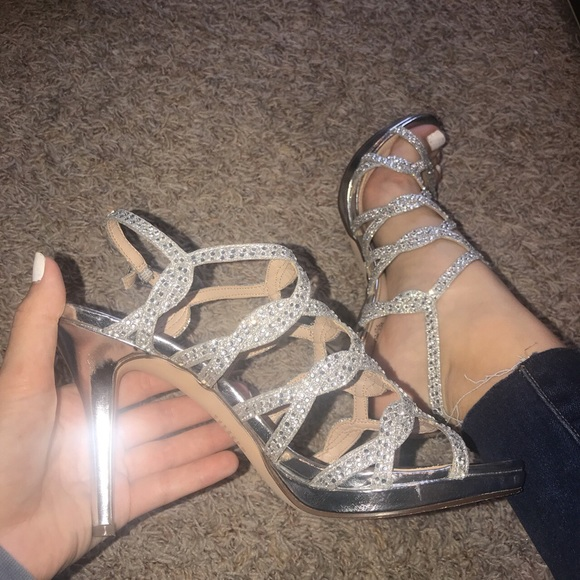 jcpenney Shoes | Silver Rhinestone